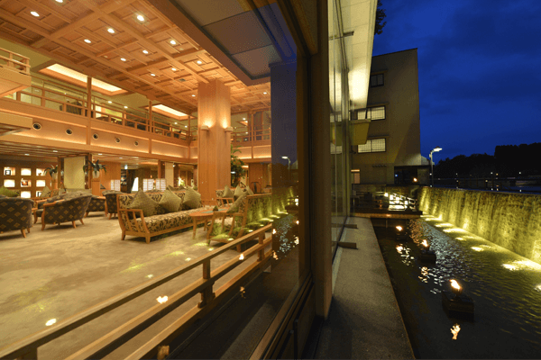 """Lounge """"Ama-no-gawa (the Milky Way)"""" on the first floor"""