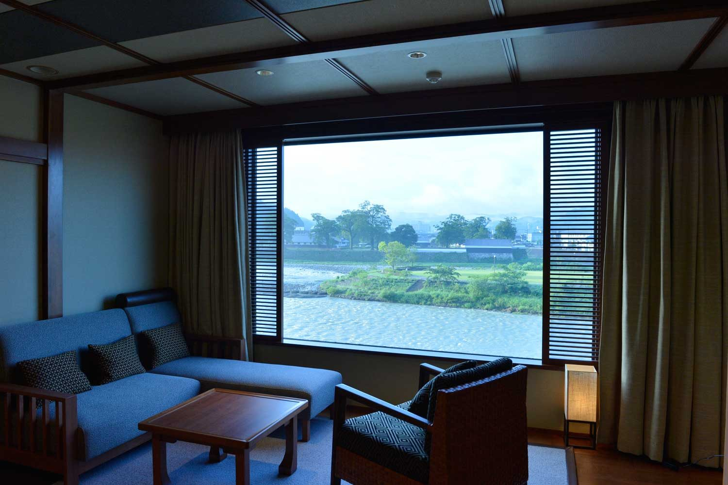 Modern-Japanese- Style Room with Great View of Kuma-gawa River and ...