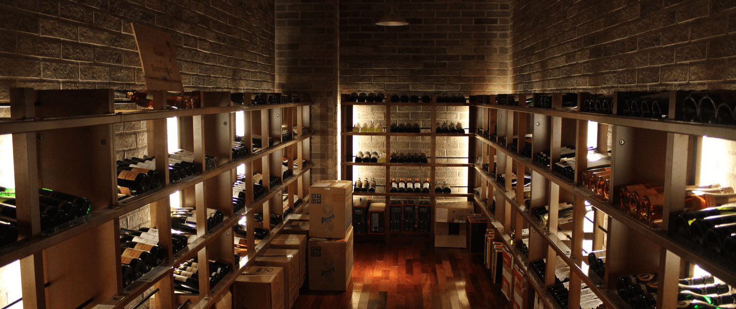 Wine cellar on the first basement level